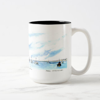 Sailing on the Monterey Bay Two-Tone Coffee Mug