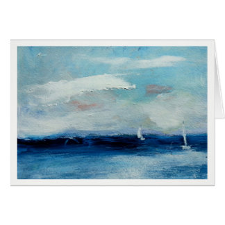 Sailing on the Sea with Brisk Winds Card