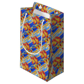 Sailing on the Seven Seas so Blue Cubist Abstract Small Gift Bag