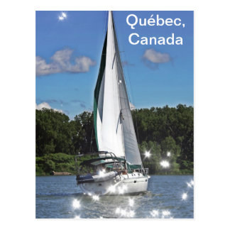 Sailing on the St-lawrence River Postcard