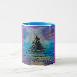 Sailing on Tranquil Seas Two-Tone Coffee Mug