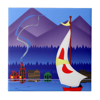 sailing on vacation tile