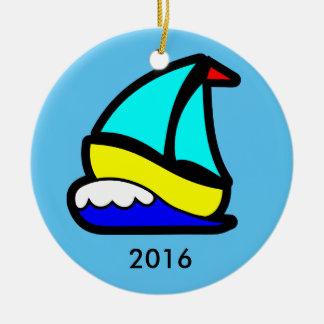 Sailing or Cruise Reunion (or Event) Round Ceramic Ornament