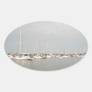 Sailing Oval Sticker