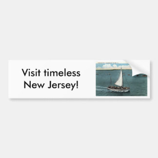 Sailing Party Wildwood by the Sea NJ Vintage 1934 Car Bumper Sticker