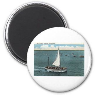 Sailing Party Wildwood by the Sea NJ Vintage 1934 Magnet