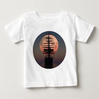 Sailing Pirate Moon Baby T-Shirt