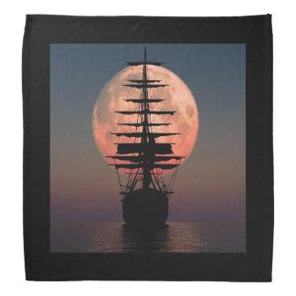 Sailing Pirate Moon Bandana
