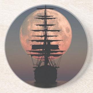 Sailing Pirate Moon Coaster