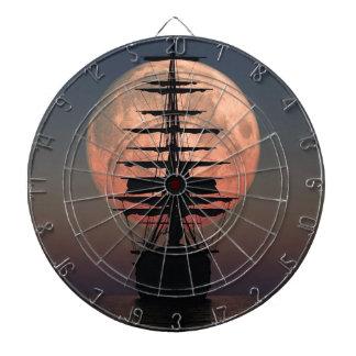 Sailing Pirate Moon Dartboard