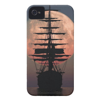 Sailing Pirate Moon iPhone 4 Cover