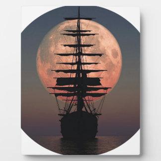 Sailing Pirate Moon Plaque