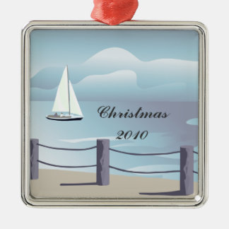 Sailing Premium Christmas Ornament