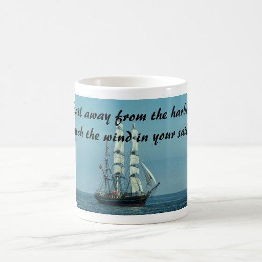 Sailing quotes and motivation mugs