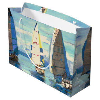 Sailing Regatta - Custom Gift Bag - Large, Glossy