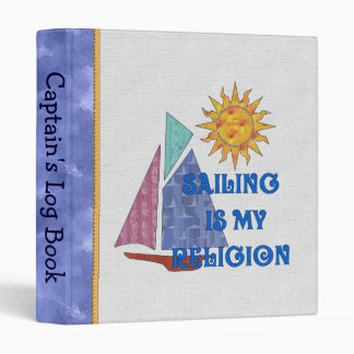 Sailing Religion 3 Ring Binders