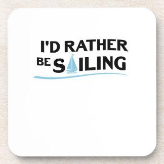 Sailing Sailboat Gift I'd Rather Be Sailing Boat Coaster