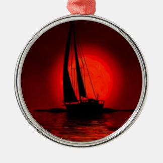Sailing Sailboat Metal Ornament