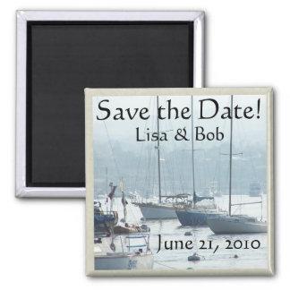 Sailing Sailboats Ocean Harbor Boats California Square Magnet