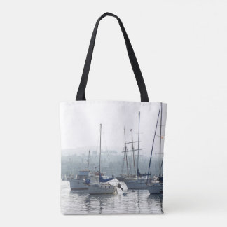 Sailing Sailboats Ocean Sea Boats Tote Bag