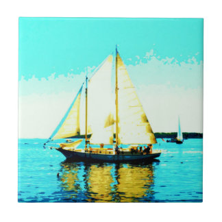 sailing schooner tile