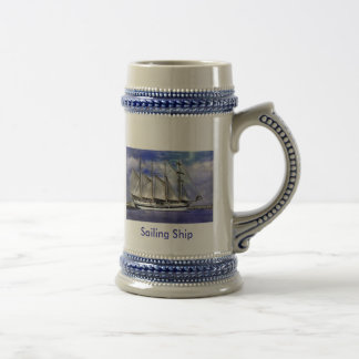 Sailing Ship Beer Stein
