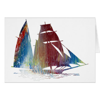 Sailing ship card