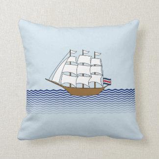 Sailing Ship Design Throw Pillow