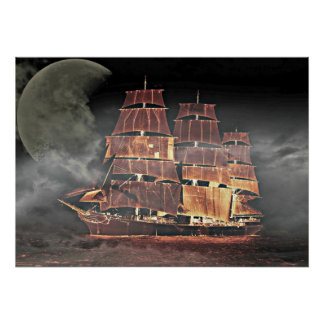 Sailing Ship digital art Poster