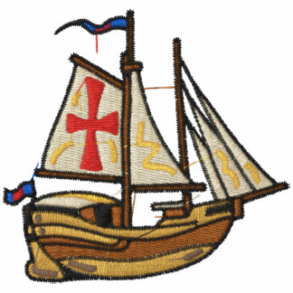 Sailing Ship Embroidered Shirt