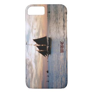 Sailing Ship on Calm Sea at Sunset Seascape Design iPhone 7 Case
