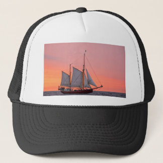 Sailing ship on the Hanse Sail in Rostock Trucker Hat