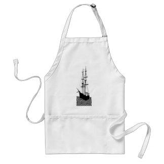 Sailing Ship Sailboat Galley Nautical CricketDiane Standard Apron