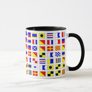 SAILING SHIP SIGNAL FLAGS MUG - Customized