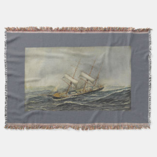 Sailing Ship St Mary Boat Throw Blanket