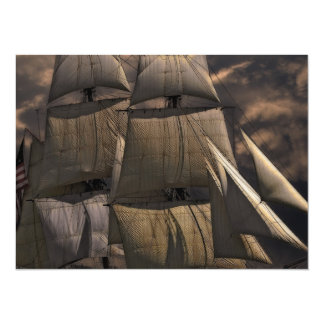 Sailing Ship Vessel Card