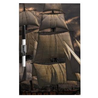 Sailing Ship Vessel Dry Erase Board