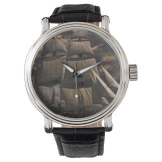 Sailing Ship Vessel Wrist Watches