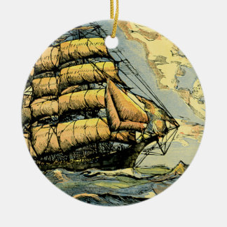 Sailing Ships Ceramic Ornament
