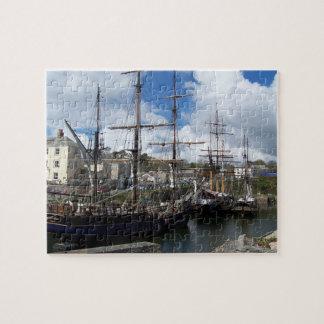 Sailing Ships Charlestown Harbour Cornwall Photo Jigsaw Puzzle