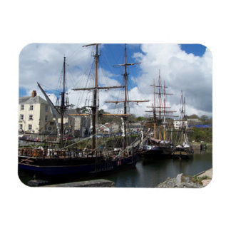 Sailing Ships Charlestown Harbour Cornwall Photo Rectangular Photo Magnet