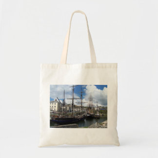 Sailing Ships Charlestown Harbour Cornwall Photo Tote Bag