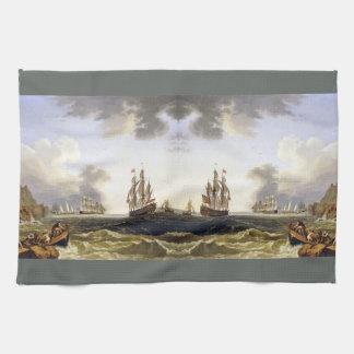 Sailing Ships Ocean Italy Coast Kitchen Towel