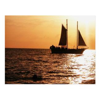 SAILING SUNSET, MONTEGO BAY, JAMAICA POSTCARD