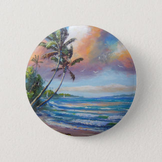 Sailing the Tropics 2 Inch Round Button