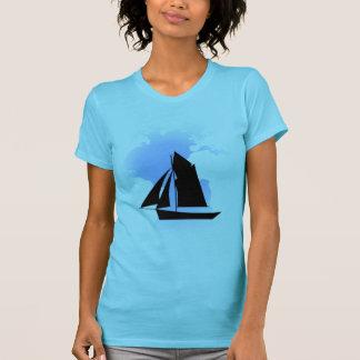 Sailing the World Women's Aqua Fine Jersey T-Shirt