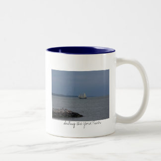 Sailing the York River Two-Tone Coffee Mug