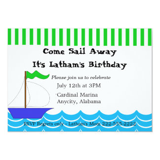 Sailing Themed Invitation