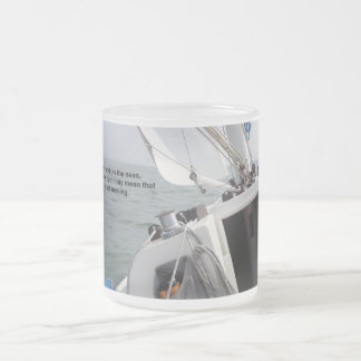 Sailing through challenge frosted glass coffee mug