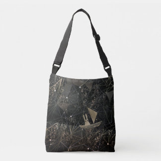 sailing through space crossbody bag